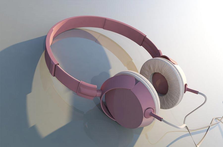 grafika produktowa 3d - model słuchawek 1