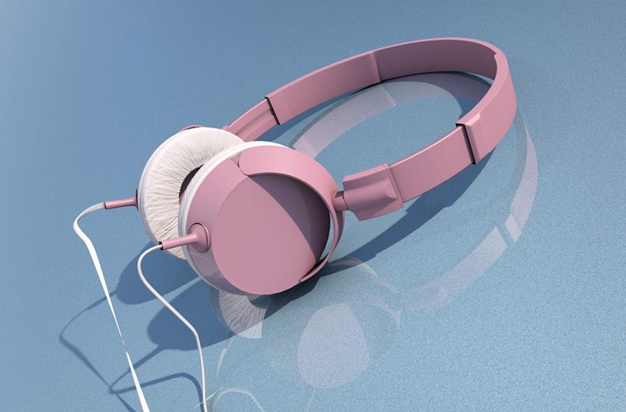 Copy of grafika produktowa 3d - model słuchawek 2